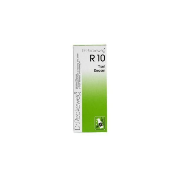 Reckeweg R10 homeopaattiset tipat