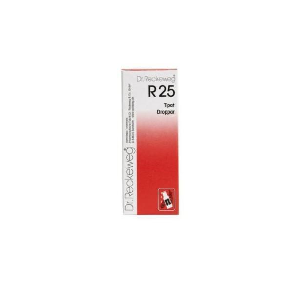 Reckeweg R25 homeopaattiset tipat