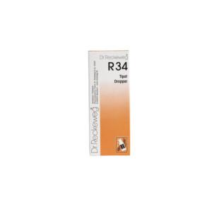 Reckeweg R34 homeopaattiset tipat
